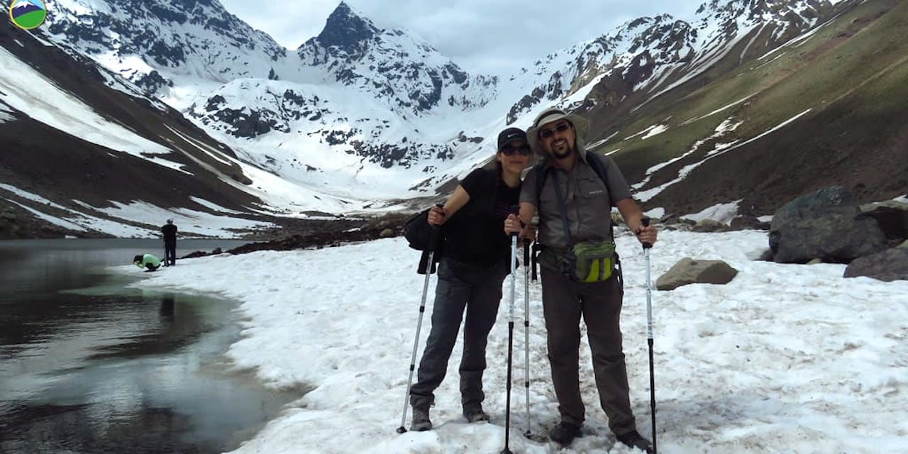 Trekking in Los Andes. Natural Monument El Morado and Baños Morales hot springs